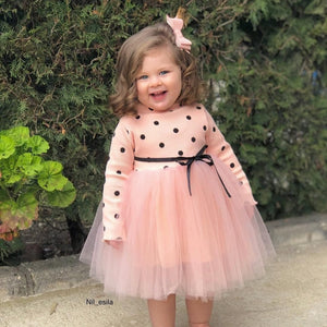 Polka Dot Peachy Dress - Mom and Bebe Ph