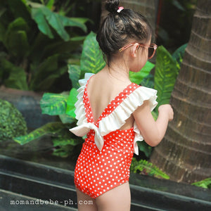Red Polkadot Swimsuit - Mom and Bebe Ph