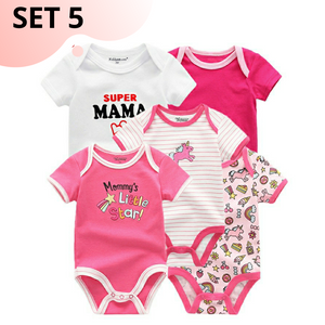 5pcs Set Bodysuits