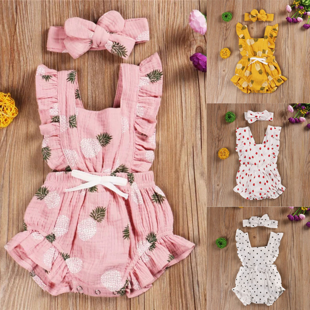 Fun Prints Romper + Headband