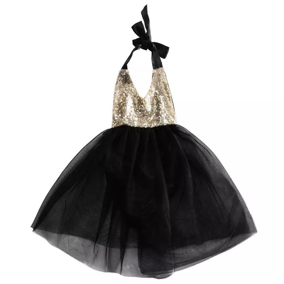 Gold Sequin Black Tutu Dress - Mom and Bebe Ph