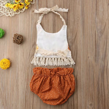 Load image into Gallery viewer, Flower Tassel Top Shorts Sunsuit - Mom and Bebe Ph