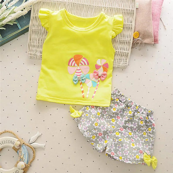 Cute Top + Floral Shorts - Mom and Bebe Ph