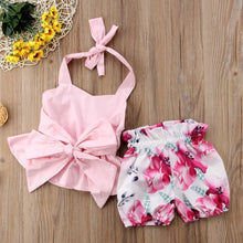 Load image into Gallery viewer, Pink Top & Floral Shorts - Mom and Bebe Ph