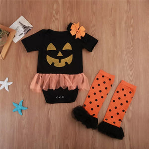 Halloween 3pcs Baby Outfit - Mom and Bebe Ph
