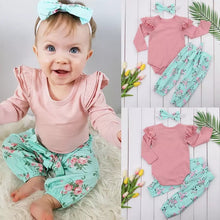 Load image into Gallery viewer, Baby Girls Outfit 3pcs Set - Mom and Bebe Ph
