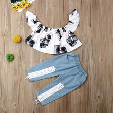 Load image into Gallery viewer, White Floral Top Jeans - Mom and Bebe Ph