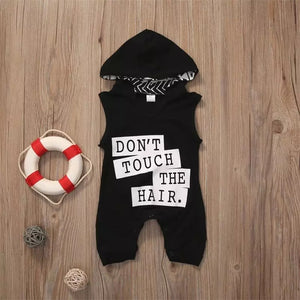 Dont Touch Hooded Romper - Mom and Bebe Ph