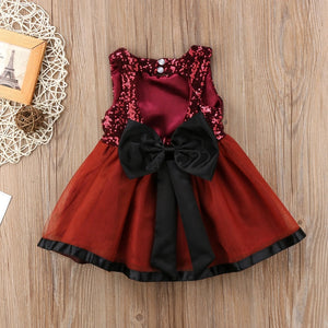 Valentine Maroon Sequin Dress - Mom and Bebe Ph