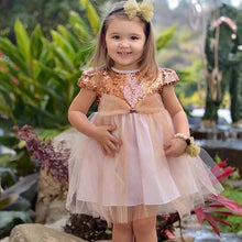 Sequins Party Dress Gold Peach