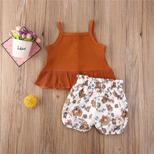 Load image into Gallery viewer, Brown Top & Floral Shorts
