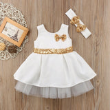 Solid Ball Gown (white/gold)