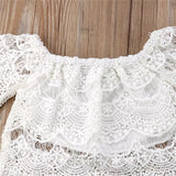 White Top Pants Cover Skirt - Mom and Bebe Ph