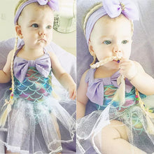Load image into Gallery viewer, Mermaid Dress Tutu Swimsuit - Mom and Bebe Ph