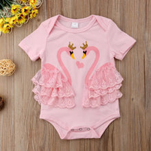 Load image into Gallery viewer, Pink Swan Bodysuit - Mom and Bebe Ph