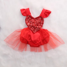 Load image into Gallery viewer, Heart Sequins Red Jumpsuit - Mom and Bebe Ph