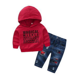 Red Hoodie & Jeans - Mom and Bebe Ph