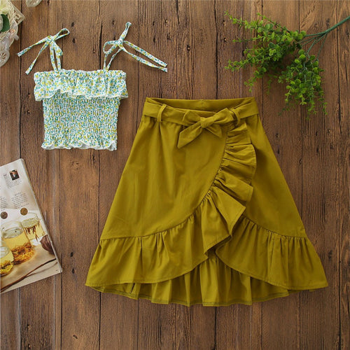 Cute Top Long Skirt