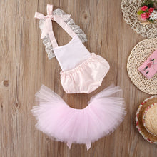 Load image into Gallery viewer, Pink Romper + Tutu Skirt - Mom and Bebe Ph
