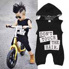 Load image into Gallery viewer, Dont Touch Hooded Romper - Mom and Bebe Ph