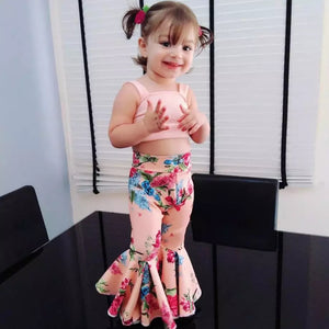 Top & Floral Wide Leg Pants - Mom and Bebe Ph
