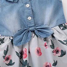 Load image into Gallery viewer, Denim Floral Dress - Mom and Bebe Ph