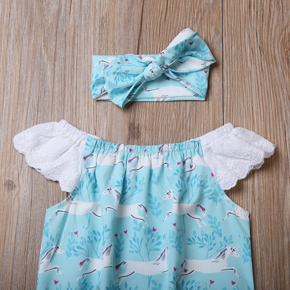Celeste Romper & Headband - Mom and Bebe Ph