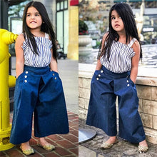 Load image into Gallery viewer, Vertical Top Denim Pants - Mom and Bebe Ph