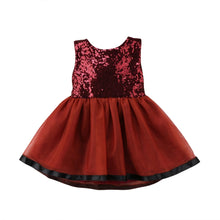 Load image into Gallery viewer, Valentine Maroon Sequin Dress - Mom and Bebe Ph