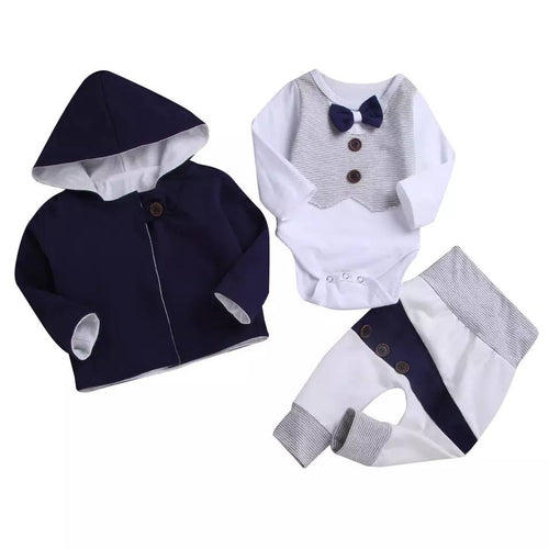 Infant Boys Jacket Long Sleeves Onesie Pants - Mom and Bebe Ph