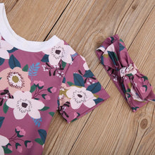 Load image into Gallery viewer, Floral Cotton Romper & Headband - Mom and Bebe Ph