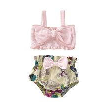 Load image into Gallery viewer, Pink & Floral 2pc Suit - Mom and Bebe Ph