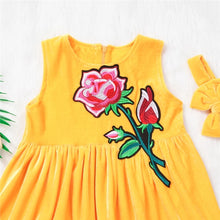 Load image into Gallery viewer, Yellow Dress Flower Patch + Headband - Mom and Bebe Ph