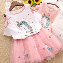 Load image into Gallery viewer, Unicorn Off Shoulder Top & Skirt - Mom and Bebe Ph
