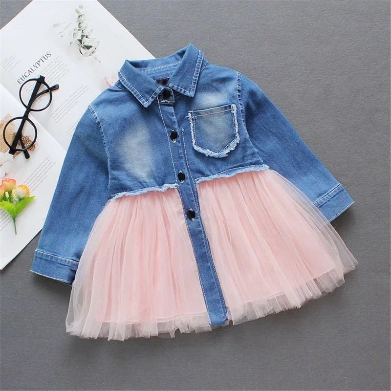 Denim Tutu Pink Dress - Mom and Bebe Ph