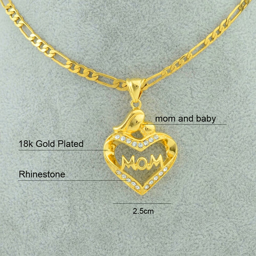 Mom necklace Gold Plated