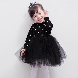 Polka Dot Black Dress - Mom and Bebe Ph