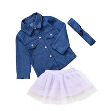Load image into Gallery viewer, Long Denim Top & Tutu Skirt - Mom and Bebe Ph