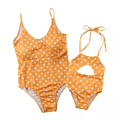 Orange Dotted Bikini