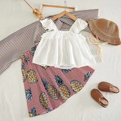 Pineapple Set Top & Skirt (P)