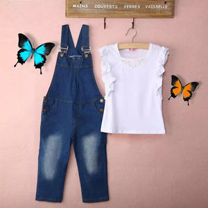 Denim Jumper White Top