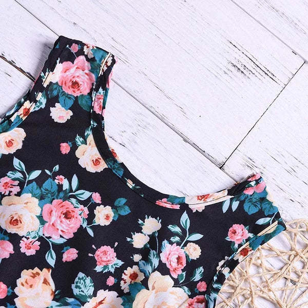Floral Top Summer Shorts