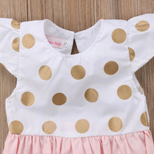 Load image into Gallery viewer, Luna Gold Dots Romper - Mom and Bebe Ph
