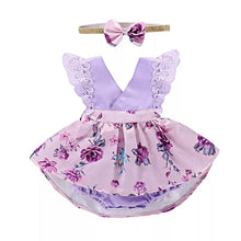 Load image into Gallery viewer, Lavender Floral Little Dress - Mom and Bebe Ph