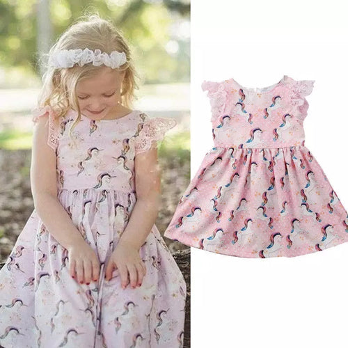 Pink Unicorn Dress - Mom and Bebe Ph