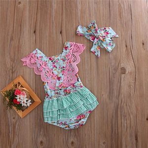 Gracie Floral Romper - Mom and Bebe Ph