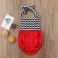 Load image into Gallery viewer, Zigzag Print Red Romper - Mom and Bebe Ph