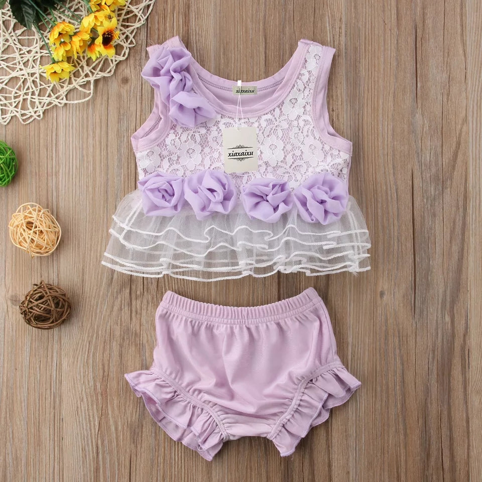 Purple Top & Shorts Set - Mom and Bebe Ph