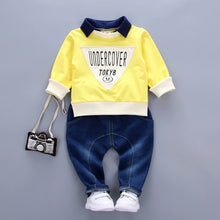 Load image into Gallery viewer, Oopsmile L-sleeve Shirt + Jeans - Mom and Bebe Ph