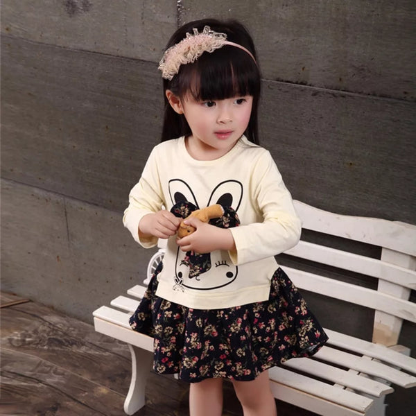 Long Sleeves Bunny One-piece Dress - Mom and Bebe Ph
